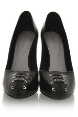 SUSY Black Corset Pumps