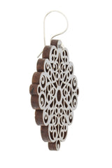 ENVICO Gray Wooden Earrings