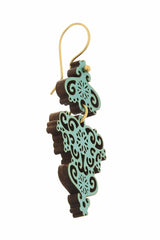 GASTOS Turquoise Wooden Earrings