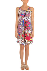 GHIACCIO Printed Sleeveless Dress