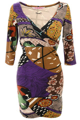 KIWI Printed Wrap Dress