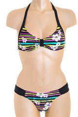 PANAMA Black Striped Bikini
