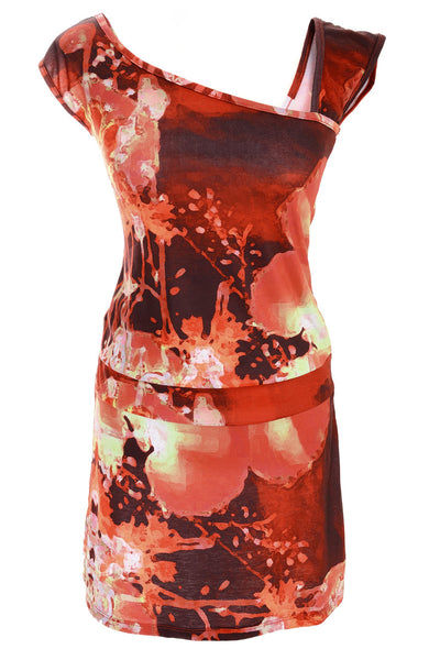 RIBES Abstract Sleeveless Dress