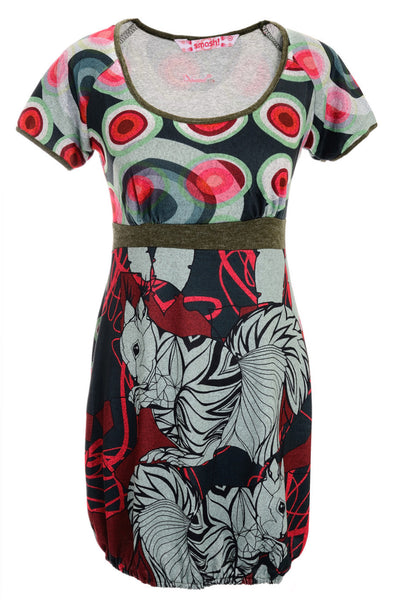 SWING Printed Dress