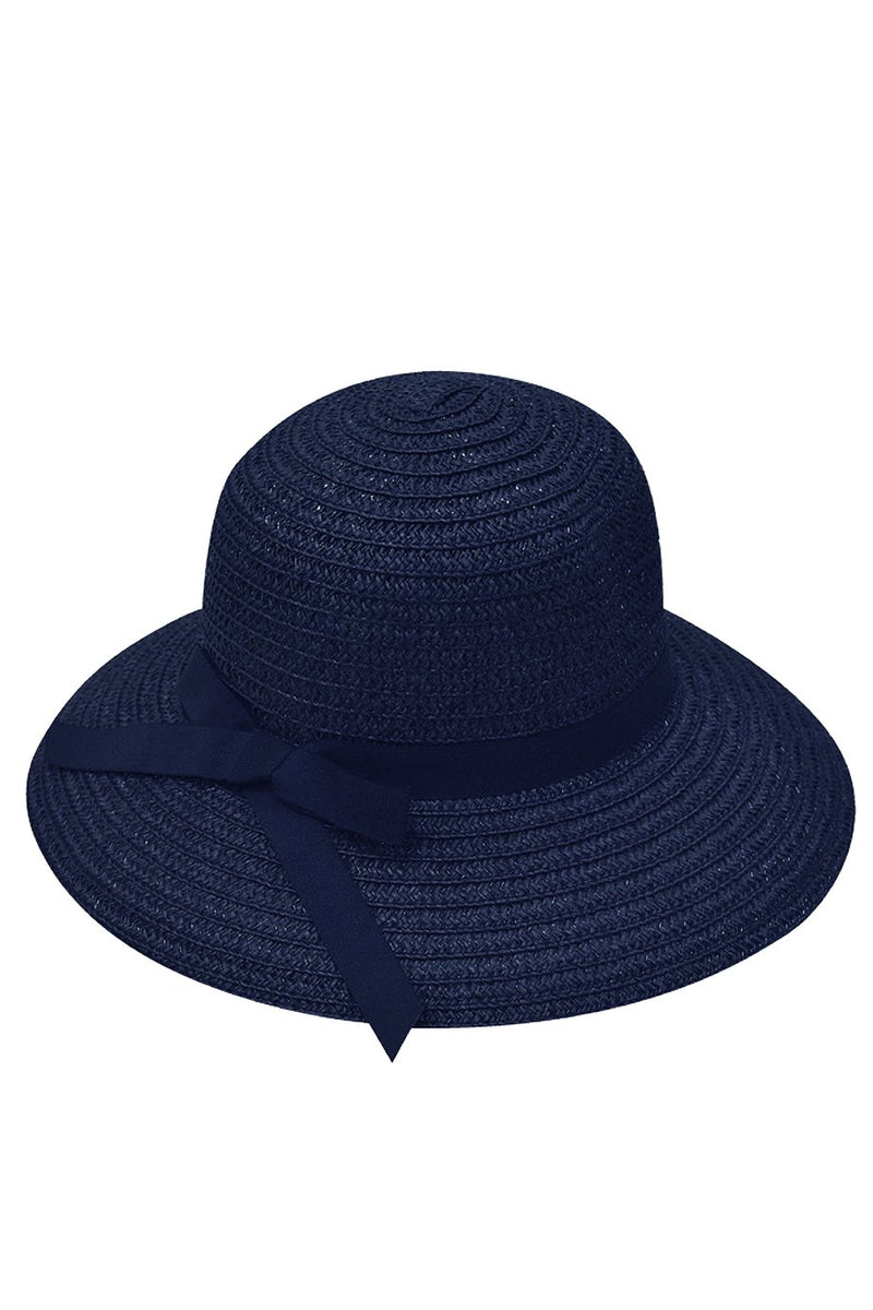 Flavia Blue Straw Beach Hat