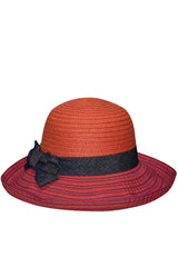 Marevita Orange Straw Beach Hat