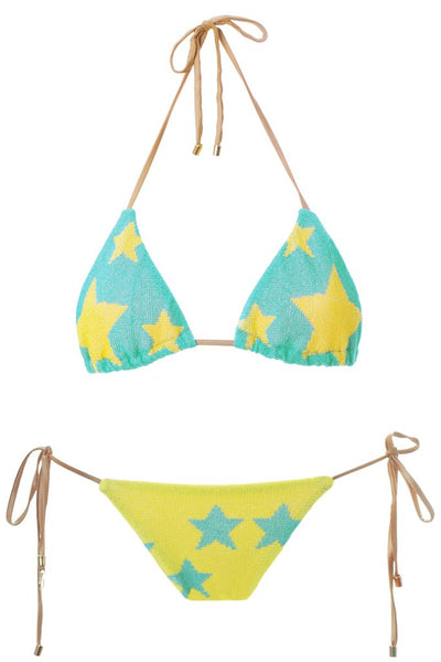 MITOS SWIMWEAR | STARS Ciel Embroidered Triangle Bikini Set