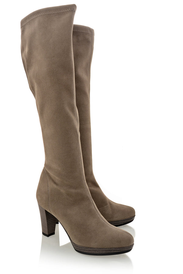 EARTH RAK Taupe Knee-High Boots