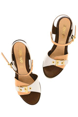 JUANITA Beige High Heeled Sandals