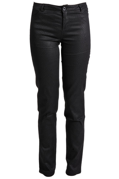ARCAMEDIS Black Snake Textured Trousers