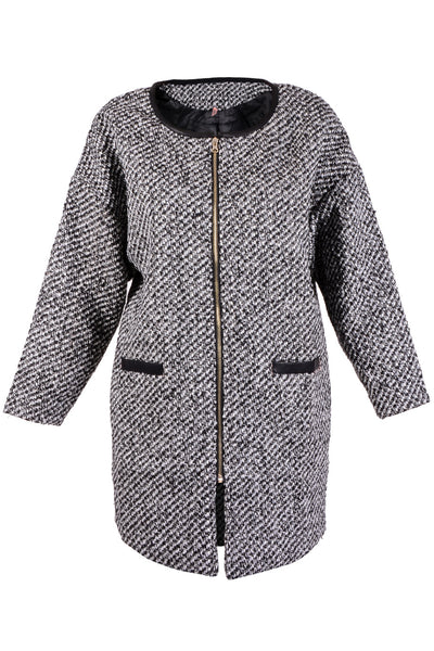 BEATRICE Grey Tweed Coat