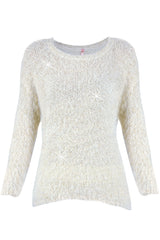KUDDLES White Fluffy Jumper