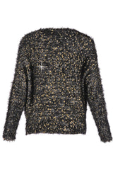 ROSEMARY Black Gold Fluffy Jumper