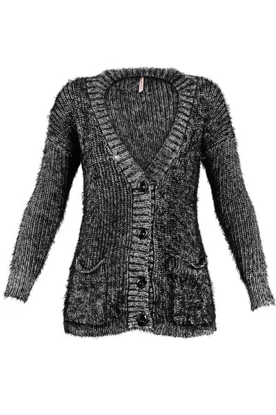WENIE Metallic Black Cardigan