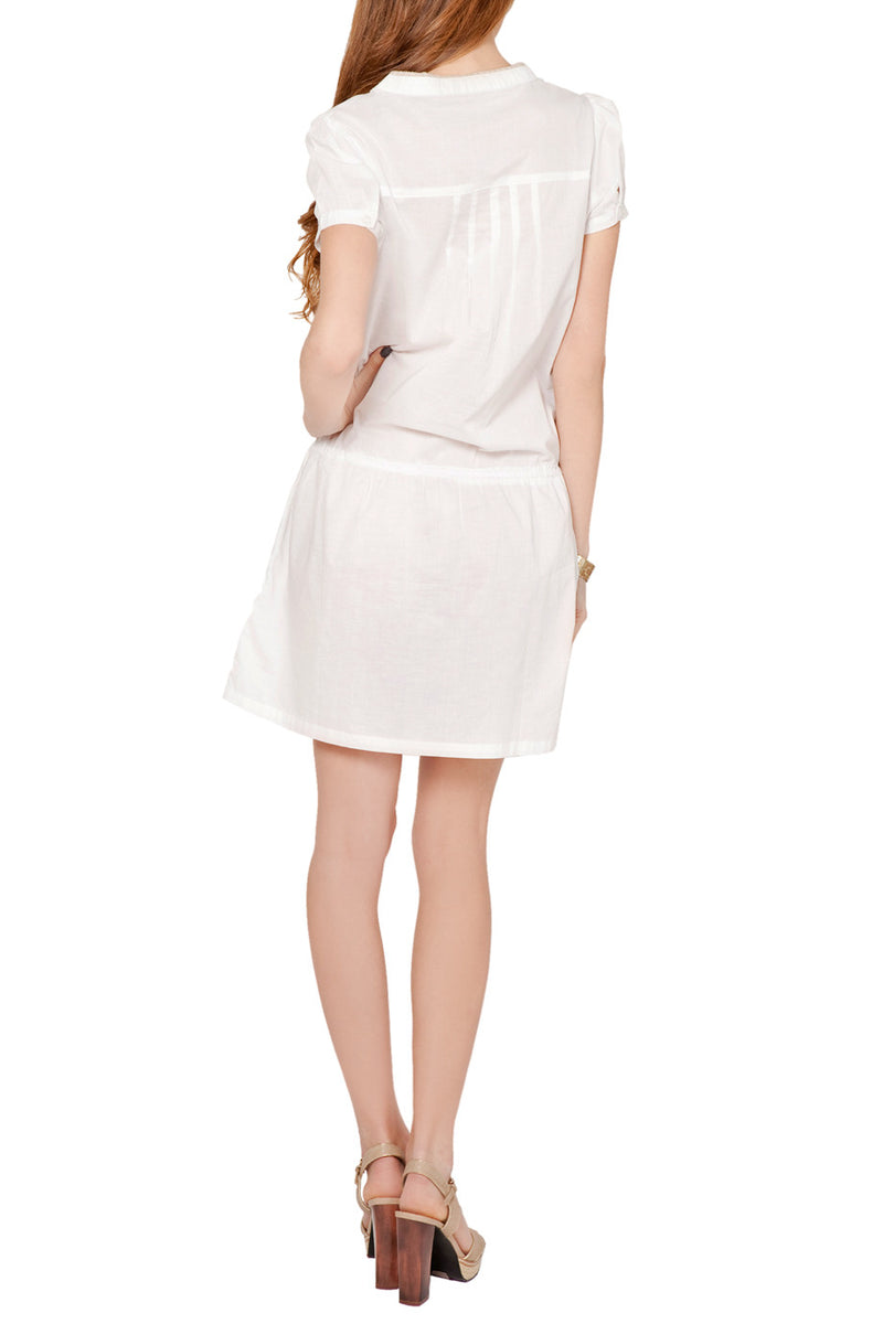 PEQUANA White Cotton Dress