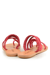 Themis Pink Leather Sandals