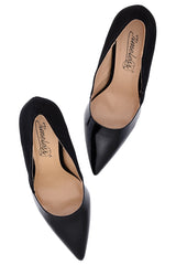 AUBREY Black Suede Pumps