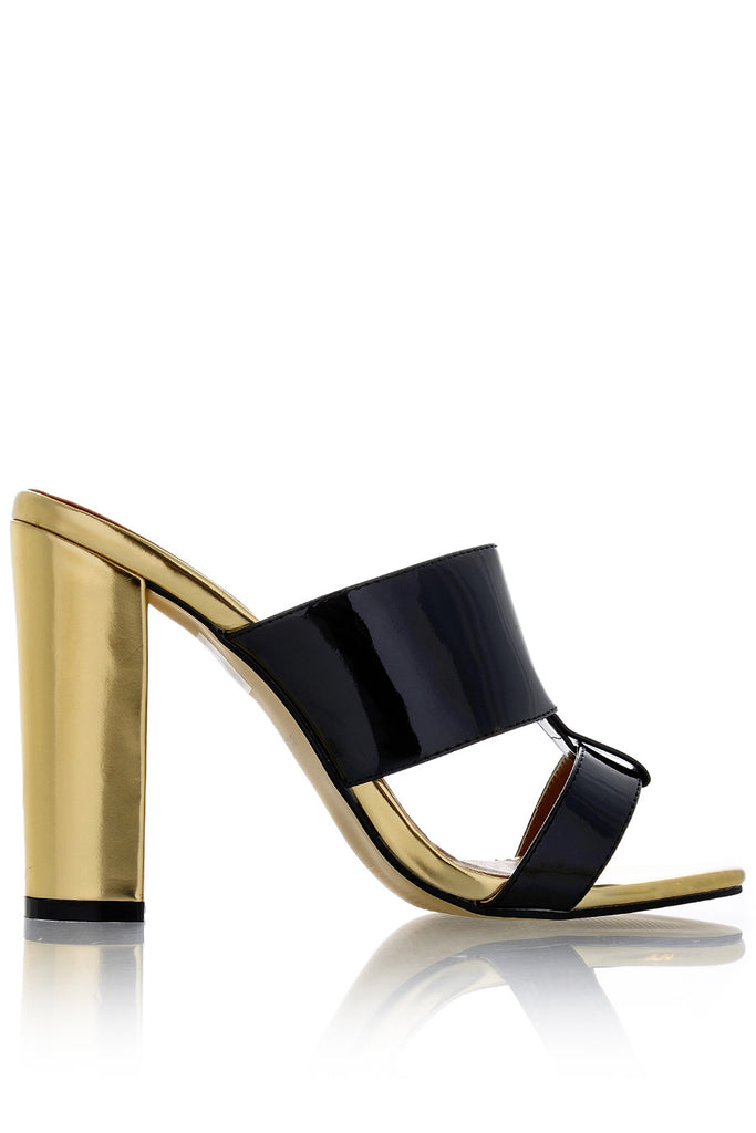 AMY Black Gold Mules
