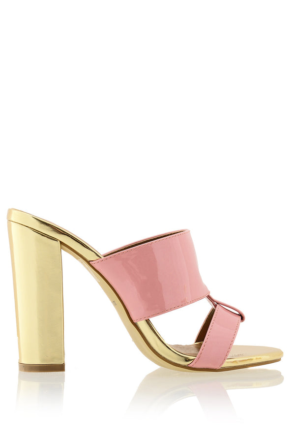 AMY Pink Gold Mules