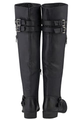BASILIA Black Thigh-High Riding Boots