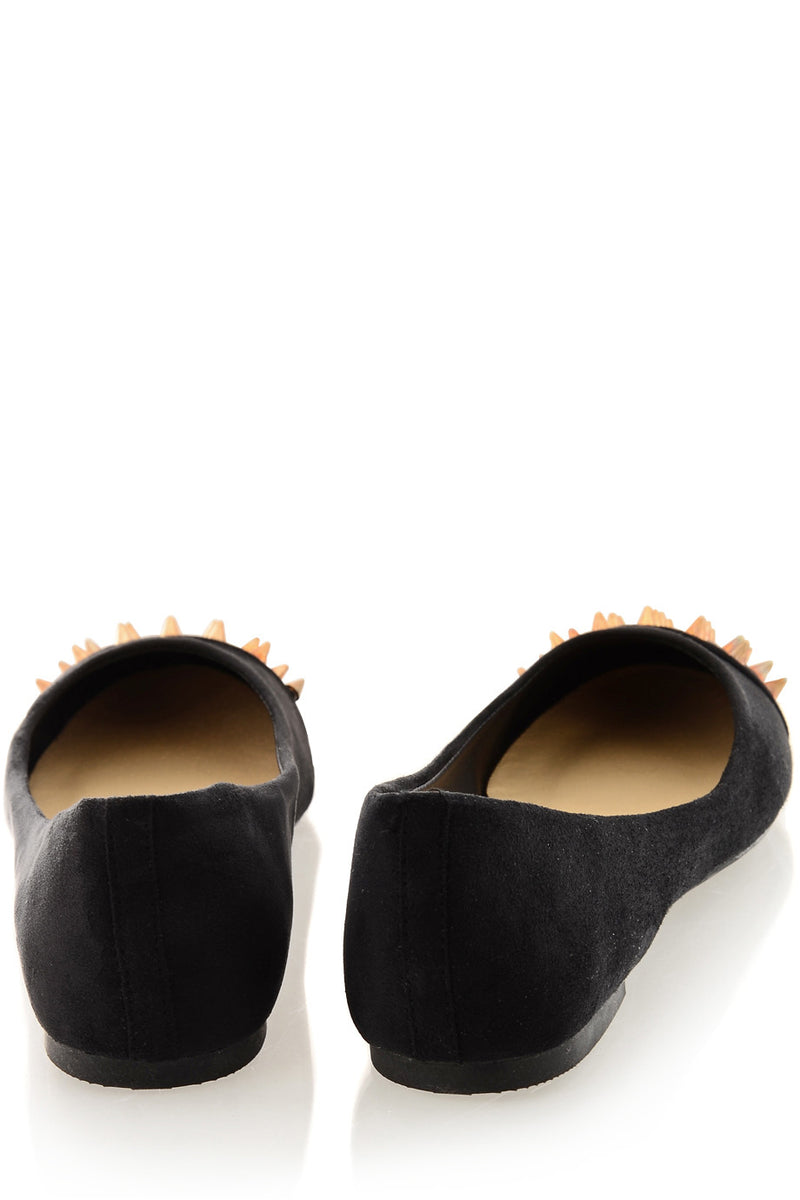 BATILDA Black Studded Ballerinas