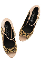 BOTINA Leopard Ankle Strap Wedges