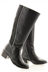 DELANIE Black Riding Boots