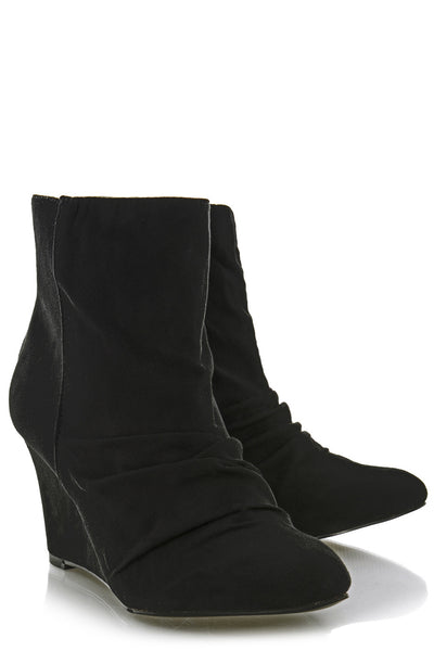 Timeless Hilda Black Suede Ankle Boots Pret A Beaute