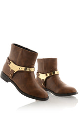 INDIANA Brown Ankle Boots