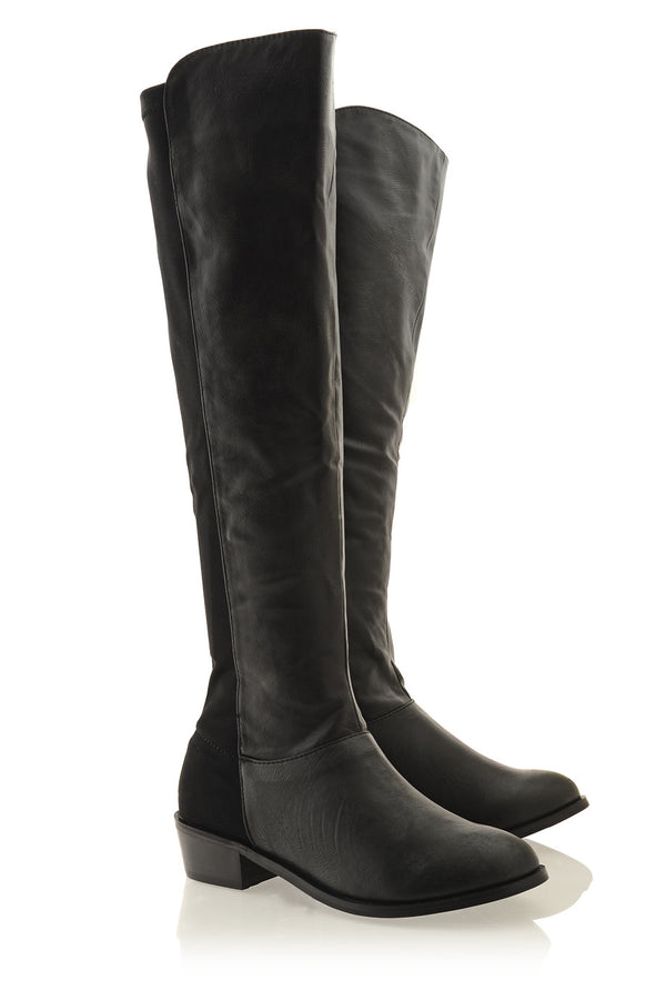 IZIDORA Black Leather Boots