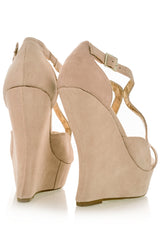 JESSIE Nude Strappy Wedges