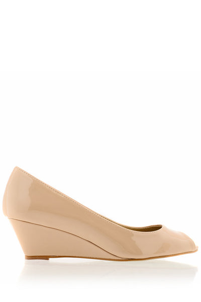 KATRINA Nude Low Wedges
