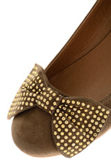 LILIANA Taupe Suede Shoes