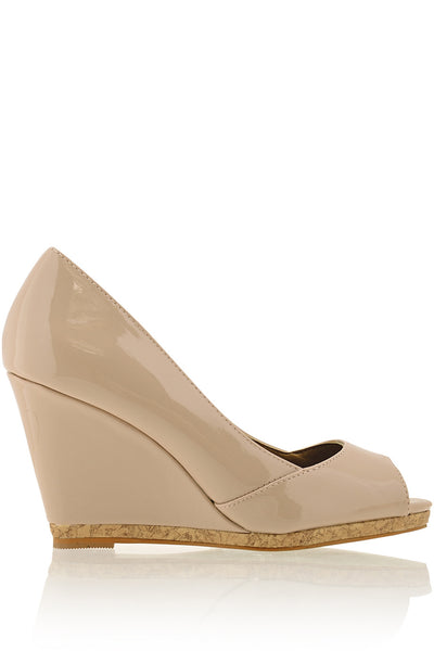 MANDY Nude Wedges