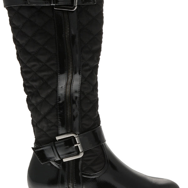 TIMELESS PAVIA Black Patent Quilted
