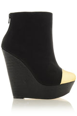 POLYANNE Black Sky High Wedges