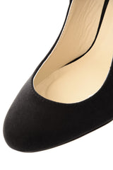 TILDA Black Suede Wedges