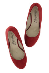 TILDA Red Suede Wedges