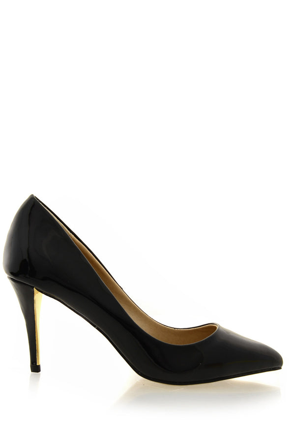 TIMELESS - AGNES Black Patent Court Pumps - Women Shoes