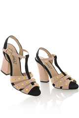DOMINICA Nude T-Bar Sandals