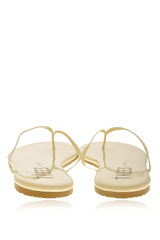 GLOSSES MARSHMALLOW Patent Leather Thong Sandals