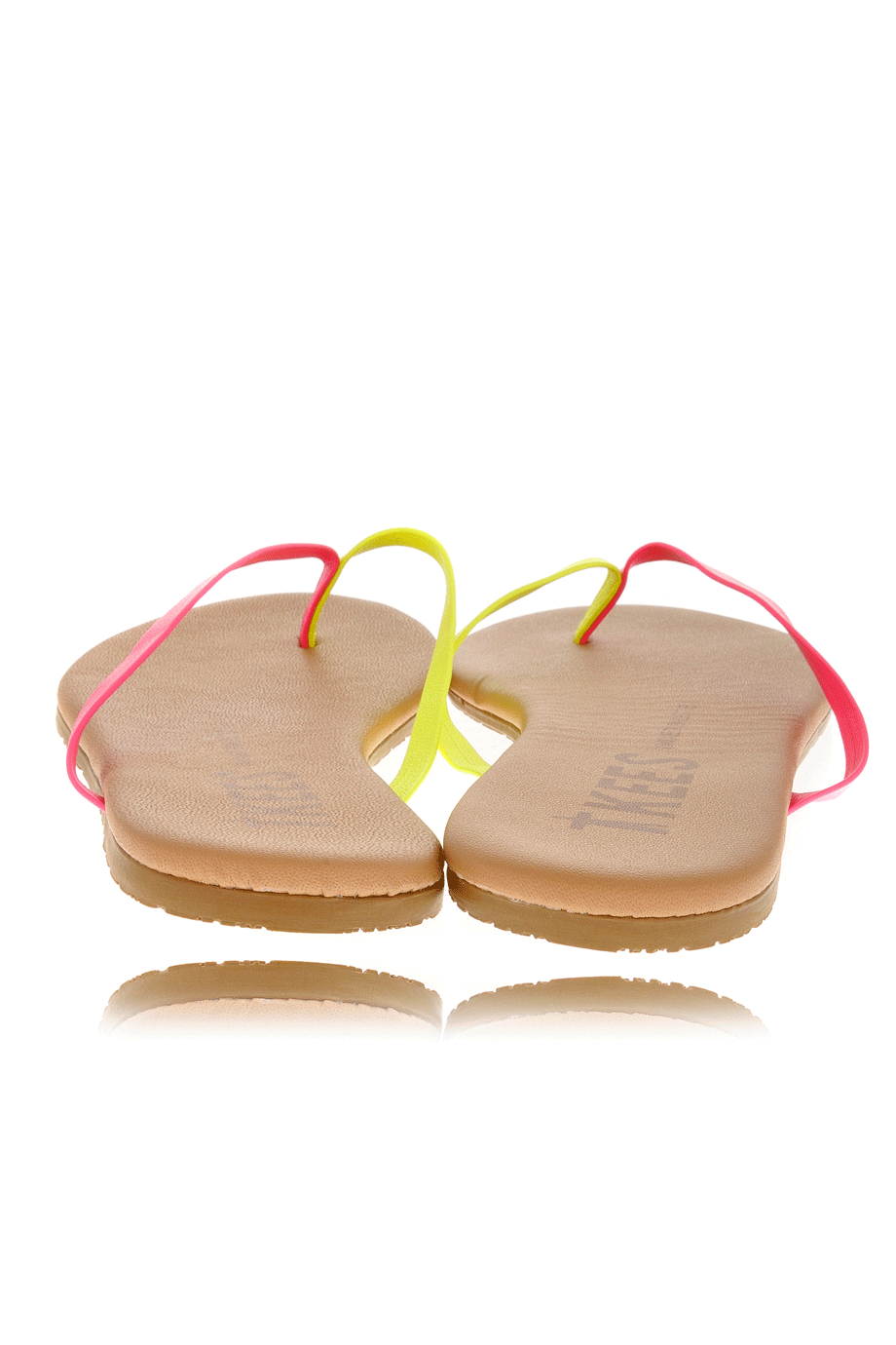 85e960327374 TKEES MIXED PALETTE Pink Citrus Leather Thong Sandals – PRET-A ...