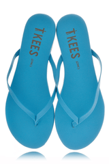 ZINCS Blue Leather Thong Sandals