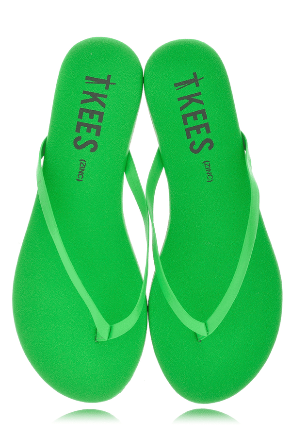 ZINCS Green Leather Thong Sandals