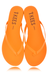 ZINCS Orange Leather Thong Sandals