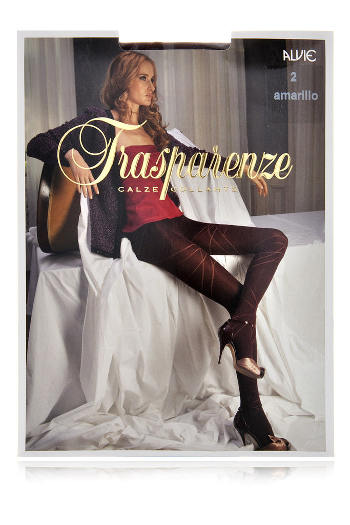 TRASPARENZE ALVIE Stripe Tights Zaffiro Blue