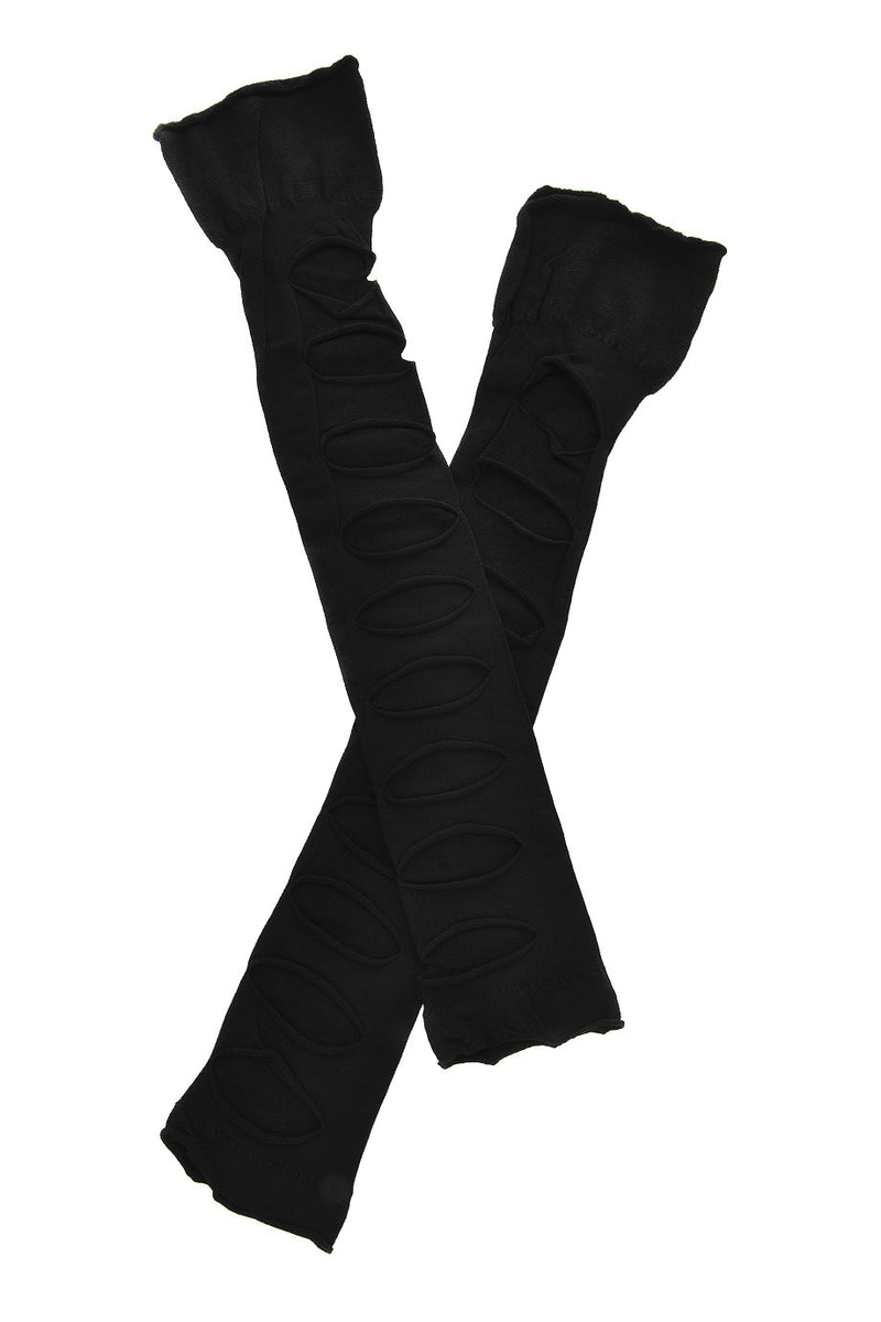 AMBER Cutout Socks Electric Black