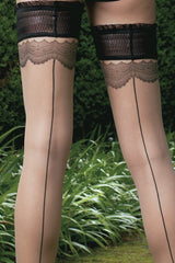TRASPARENZE ANGIE Lace Hold-Ups Black