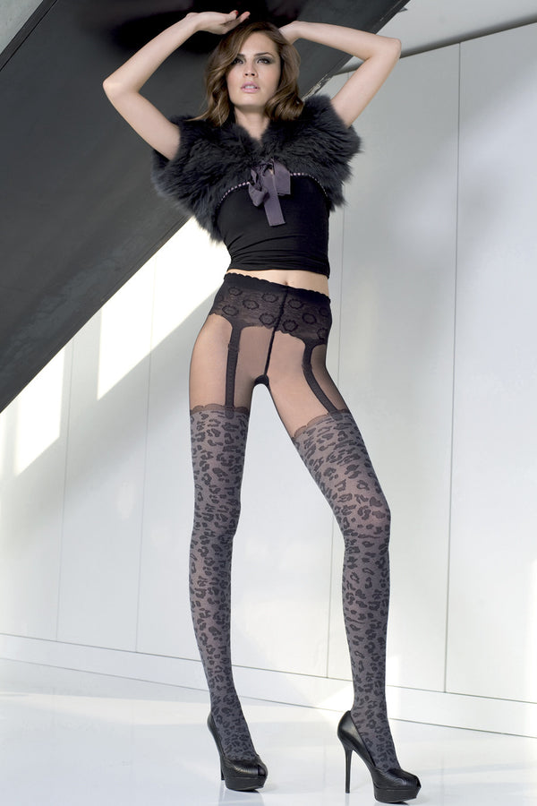 TRASPARENZE AUCKLAND Leopard Tights