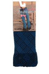 TRASPARENZE BELGIUM Petrol Geometric Knee Highs